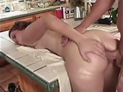 Yummy Teen Gets Ass Banged In The Kitchen