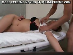 Japanese teen hairy pussy banged