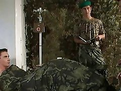 Stud enjoying the fisting- military style