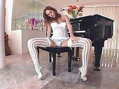 Cassia Riley stocking masturbation