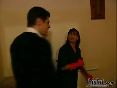 Stephanie Web gets banged in the bathroom