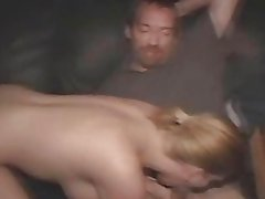 Brunette skank public suck and fuck in a dirty porn theater