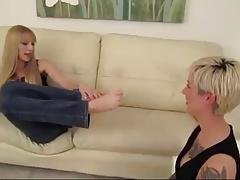 PR Lesbian Foot Slave