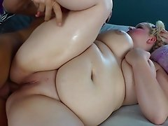 Captivating BBW fingering her pussy before getting pounded hardcore missionary