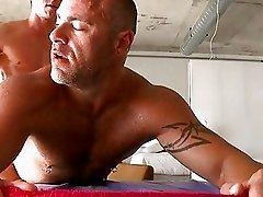 Unfathomable anal thrashing with homo lad and hunk