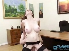 busty boss fucks with her employee