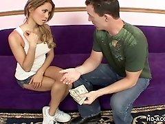 Renae given money then pounded hardcore doggystyle