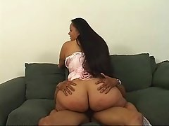 Massive ass BBW in a corset becomes his hot cock rider