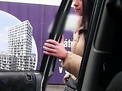 Anna gets hard action inside a car