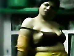 Chubby ugly Indian bitch flashes her saggy natural titties on cam