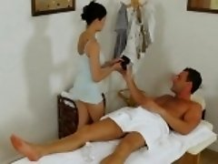 Hot honey actually enjoys mixing up sex and dirty massage
