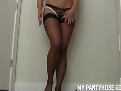 I put on a special pair of pantyhose just for you JOI