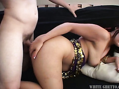 Whorish Indian sex doll with droopy boobs Honney Bunny got her hairy pussy nailed in mish and doggy styles tough