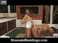 Horny She Male Gets a Steamy Wedding Night