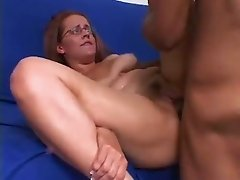 Black freak pleases moist pussy of his white ugly wifey in mish pose