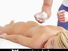 Hot blonde gets the stress rubbed and fucked ri