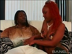 Curvaceous ass black girl pounded into by his BBC