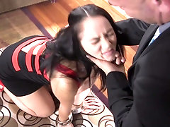 Mature babe Kristina Rose ass fucked with a ball gag in her mouth