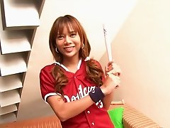 Ladyboy Baseball Player Fucked Bareback