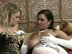 elegant diva Heather Starlet adores playing lesbian sex games