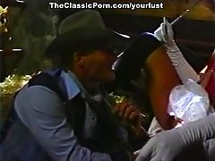 Horny dude carries his GF up to the hayloft and then she fucks him on top