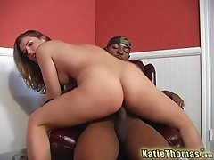 Katie Thomas is a hot chick in need of a lover's brunette cock