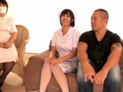 Kinky guy has two sexy Oriental nurses fulfilling his needs