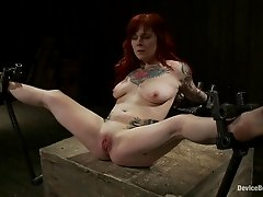 Kinky-ass Redhead at the Mercy of Sex Machines
