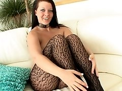 Hardcore doggy style ass fuck for MILF Savannah Paige in stockings