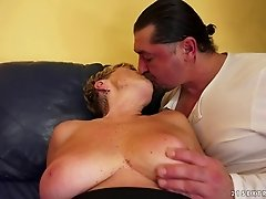 Fancy granny with big tits enjoys getting her pussy pounded hardcore