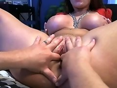 Horny guy satisfies Sophie Dee by fucking her from behind