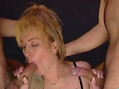 Milf requested to screw both her craving holes