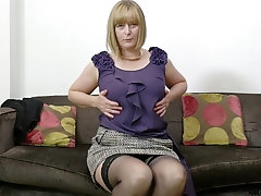 Mature blonde April is finger fucking always sex-starved old cunt