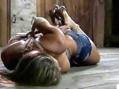 Busty tied up woman is looking for pain BDSM movie
