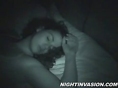 Sleeping amateur slut gets her cunt fucked in homemade video