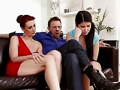Couple has a Threesome with Son's GF