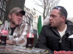 Amsterdam call girl doggy style by tourist