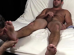 Adult homo chaps in foot fetish homo tryout on web camera