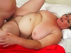 Big busty fat granny getting fucked
