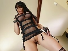 Pretty brunette cougar with fake tits screaming as her anal is drilled with big cock