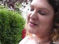 Curly bbw seduced and fucked by stranger
