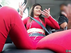 Almost without tits brunette cowgirl Adria Rae rides dick after proper missionary