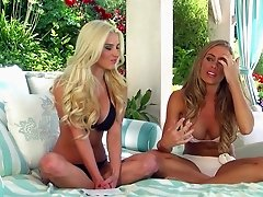 Lovely hot ass porn hotties Nicole Aniston and Spencer Scott in a nasty lesbian scene