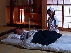Older men fondle and cum on this tight Japanese beauty
