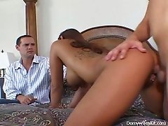 Appetizing super busty and tattooed black head Guillen is fucked