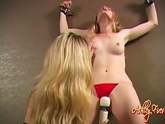 Nasty White Chick Gets Pussy Teased With Sex Toys In Hot Bondage