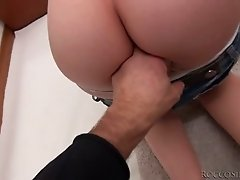Wanton redhead bitch and filthy blondie fight for one meaty big cock