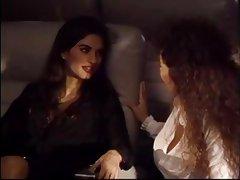 Keisha has lesbian sex in an airplane.
