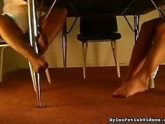 Amazing foot fetish scene