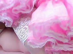 Sissy fuck doll in pink Sissy Dress